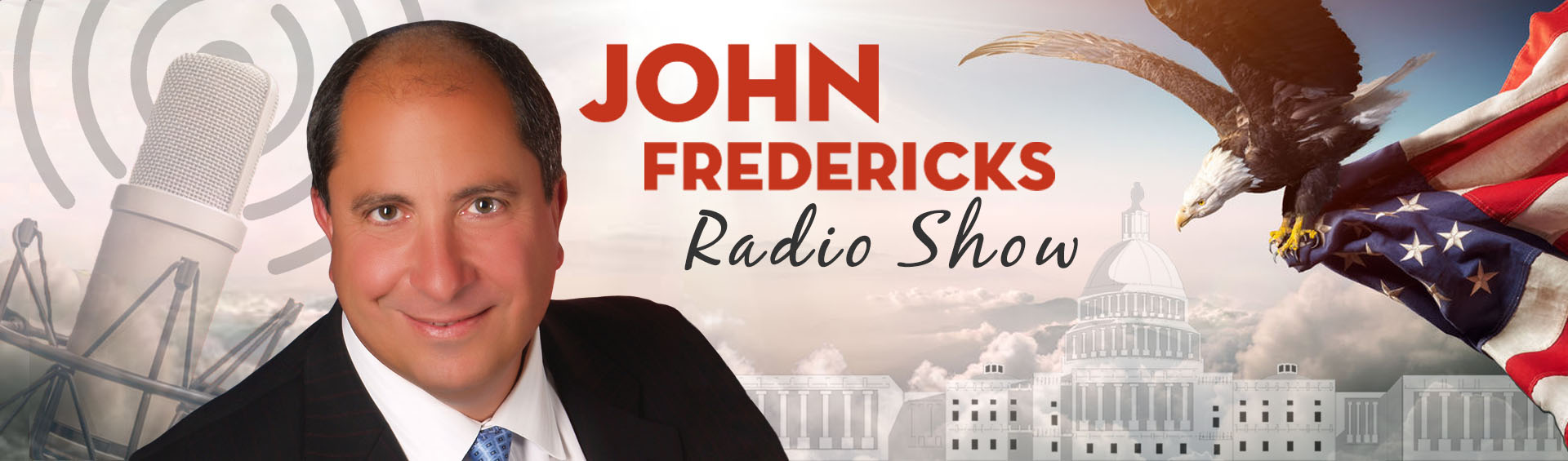 John Fredericks Radio Show - conservative talk radio - patriotic banner